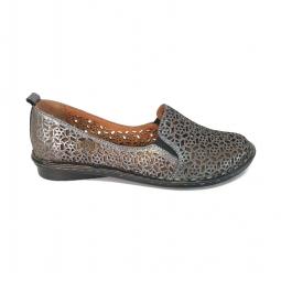 Pantofi Dama cu Talpa Groasa Mickey 09NEGRU din Piele Naturala
