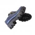 Pantofi dama albastri cu siret si talpa groasa Miruna09, Piele Naturala