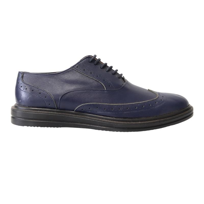 Pantofi casual / office barbati albastri Neros81, Piele Naturala