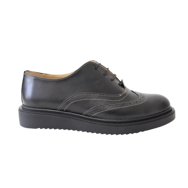 Pantofi negri casual pentru femei din piele naturala 20N