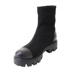 Ghete Dama Stretch (elastic), piele naturala, talpa usoara, Miruna, Mateo Shoes