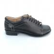 Pantofi dama lati negri cu siret si lac Daphne22, Piele Naturala