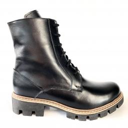 ghete dama din piele naturala negre imblanite mateo shoes