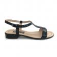 Sandale dama negre cu talpa joasa Himera16, Piele Naturala