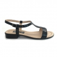 Sandale dama negre cu talpa joasa Himera, Piele Naturala