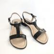Sandale joase de dama 75 Negre din piele naturala