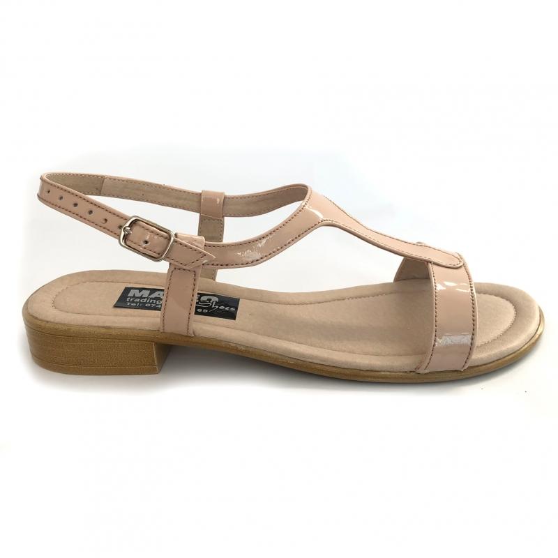 Sandale dama nude cu talpa joasa piele naturala