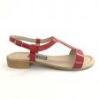 Sandale dama rosii lac cu talpa joasa Himera16, Piele Naturala