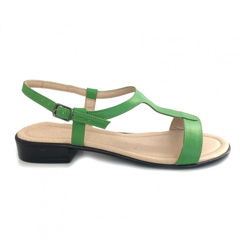Sandale dama verzi cu talpa joasa piele naturala
