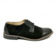 Pantofi casual barbati negri velur Adonis, Piele Intoarsa