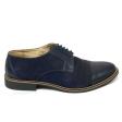 Pantofi casual barbati albastru velur Adonis, Piele Intoarsa