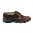 Pantofi casual barbati maro velur Adonis, Piele Intoarsa