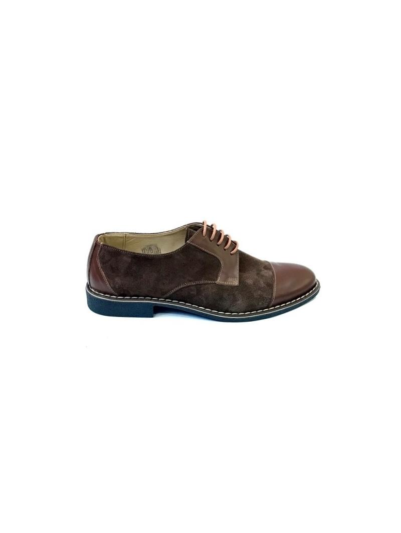 Pantofi casual barbati maro velur piele intoarsa