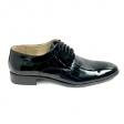 Pantofi barbati negri eleganti din lac Adonis, Piele Naturala