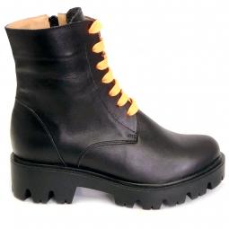 Pantofi iarna barbati 408 negri, din piele naturala