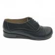 Pantofi dama lati negri cu siret Enea, Piele Naturala, Cusaturi in contrast