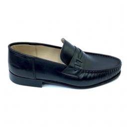 Scarpi negri clasici cu calapod lat din piele naturala