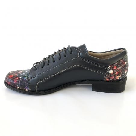 Pantofi barbati sport cu arici, 23 negri, din piele naturala