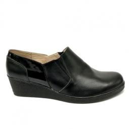 Pantofi dama lati casual cu elastic si talpa ortopedica din piele naturala