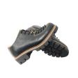 Pantofi dama negri cu siret si talpa groasa Louisa, Piele Naturala