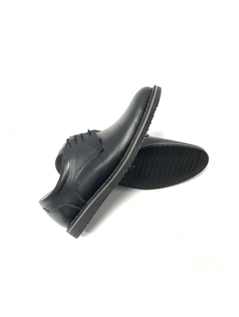 Pantofi casual barbati negri piele naturala