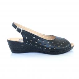 Sandale dama bej cu talpa joasa ortopedica piele naturala