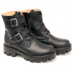 Pantofi barbati calapod lat, 710 negri, din piele naturala