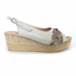 Sandale dama bej cu talpa joasa Amore50, Piele Naturala
