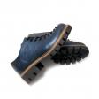Pantofi dama albastri cu siret si talpa groasa miruna piele naturala