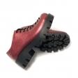 Pantofi dama rosu cu siret din piele naturala, talpa groasa
