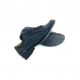 Pantofi Dama Sport Albastri cu Imprimeu Floral din Piele Naturala