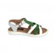 Sandale dama verzi cu talpa joasa Naiade02, Piele Naturala