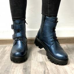 Pantofi casual negri barbati 317, piele + piele intoarsa